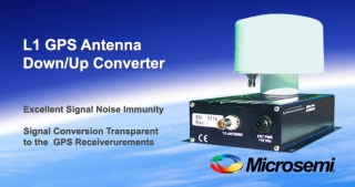 L1 GPS antenna down/up converter, Microsemi