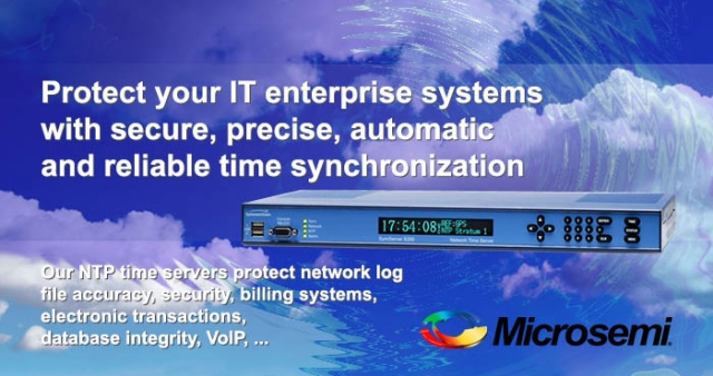 NTP time servers, Microsemi